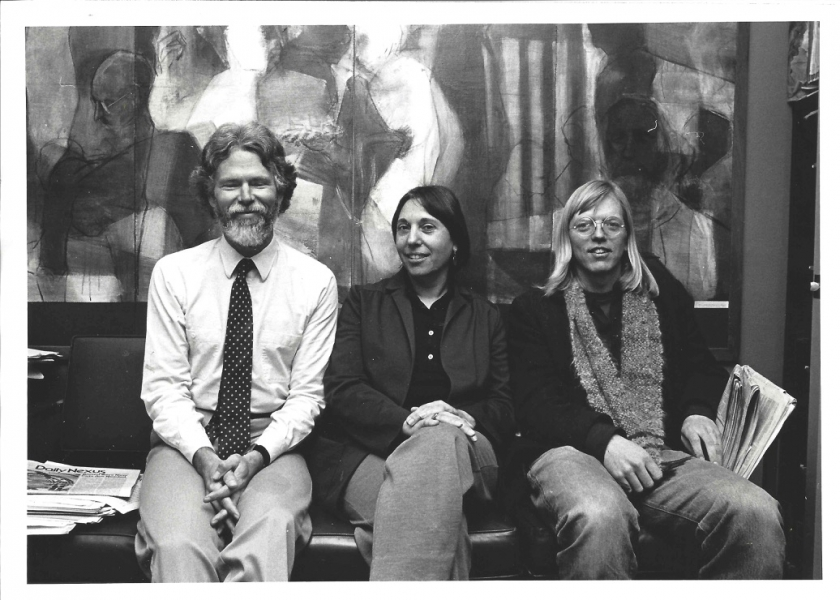 Early Days at the Ombuds Office- Geoffrey with Amelia Frank and Randall Lamb