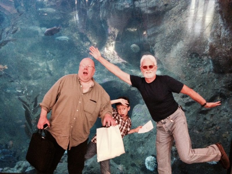 Matthew and Quercus with Tamara and Geoffrey at Seattle Aquarium: July 2014
