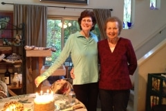 Tamara and Barbara in 2013 at Barbara's Birthday Party