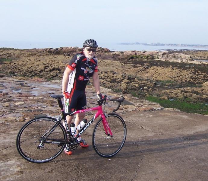 Geoffrey with bike