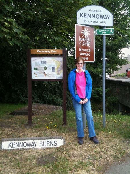 Tamara at the Entrance to Kennoway and the Kennoway Den